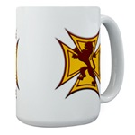 Royal Scottish Biker Cross Large Coffee Cup