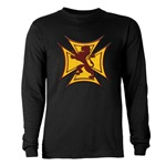 Royal Scottish Biker Cross Long Sleeve Dark T