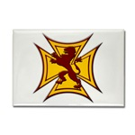 Royal Scottish Biker Cross Rectangle Magnet