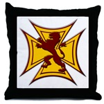 Royal Scottish Biker Cross Throw Pillow