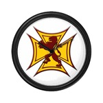 Royal Scottish Biker Cross Wall Clock