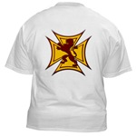 Royal Scottish Biker Cross White T-Shirt
