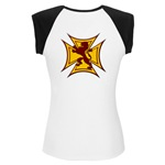Royal Scottish Biker Cross Women's Cap Sleeve T