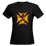 Royal Scottish Biker Cross Women's Dark T-Shirt