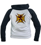 Royal Scottish Biker Cross Women's Raglan Hoodie