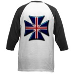 British Biker Cross Baseball Jersey