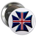 British Biker Cross Button