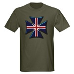 British Biker Cross Dark T-Shirt