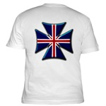 British Biker Cross Fitted T-Shirt