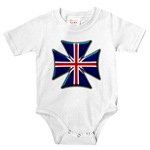 British Biker Cross Infant Bodysuit