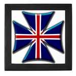 British Biker Cross Keepsake Box