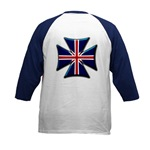British Biker Cross Kids Baseball Jersey