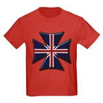 British Biker Cross Kids Dark T-Shirt