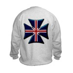 British Biker Cross Kids Sweatshirt