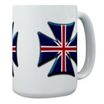 British Biker Cross Large Mug