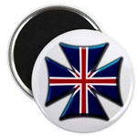 British Biker Cross Magnet