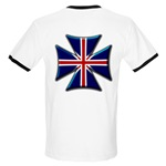 British Biker Cross Ringer T