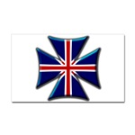 British Biker Cross Sticker (Rectangular)