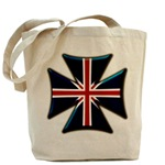 British Biker Cross Tote Bag