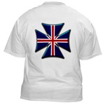 British Biker Cross White T-Shirt