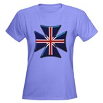 British Biker Cross Women's Dark T-Shirt