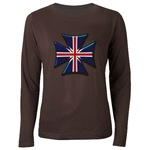 British Biker Cross Women's Long Sleeve Dark T-Shi