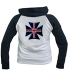 British Biker Cross Women's Raglan Hoodie